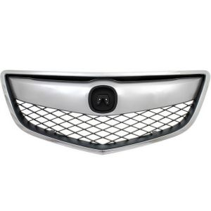 ACURA RDX GRILLE ASSEMBLY CHR/DK-GRAY (1PC W/UPPER&OUTER MLDG) OEM#71121TX4A01-PFM 2013-2015