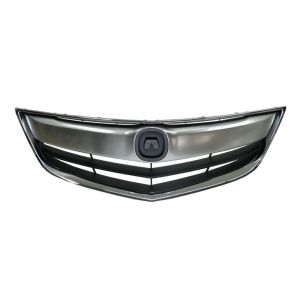 ACURA ILX GRILLE ASSEMBLY CHR/DK-GRAY (W/UPPER&OUTER CHROME MLDG) OEM#71121TX6A11-PFM 2013-2015 PL#AC1200117