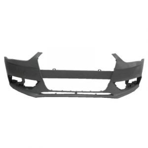 AUDI A4 SD / WG FRONT BUMPER COVER PRIMED (WO/HEAD/LAMP WASHER)(WO/S-LINE)(W/ROUND TOW COVER) OEM#8K0807065AGRU 2013-2014 PL#AU1000190