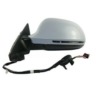 AUDI A3 DOOR MIRROR LEFT PWR/HTD/SIGNAL/M-FOLD (PTD CVR)(WO/DIMMER)(4PC IN BOX) OEM#8P1858531EB01C-PFM 2009-2010