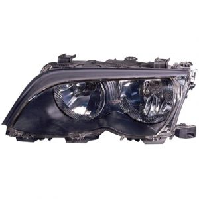 BMW BMW 3 ( i/xi ) (SD/WG) HEAD LAMP ASSEMBLY LEFT (W/BLK BEZEL)(HALOGEN) OEM#63127165771 2002-2005 PL#BM2502122