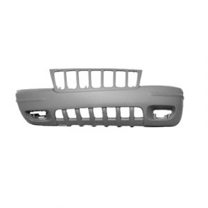 JEEP GRAND CHEROKEE FRONT BUMPER COVER PRIMED (W/FOG) OEM#5012668AA 1999-2000 PL#CH1000266