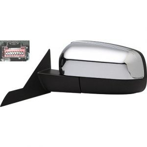 FORD FIVE-HUNDRED DOOR MIRROR LEFT PWR HTD (W/PUDDLE LAMP)(W/MEMORY) CHROME COVER OEM#6G1Z17683C-PFM 2005-2007 PL#FO1320376