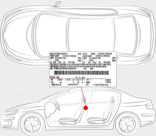 Ford Paint Code Locator
