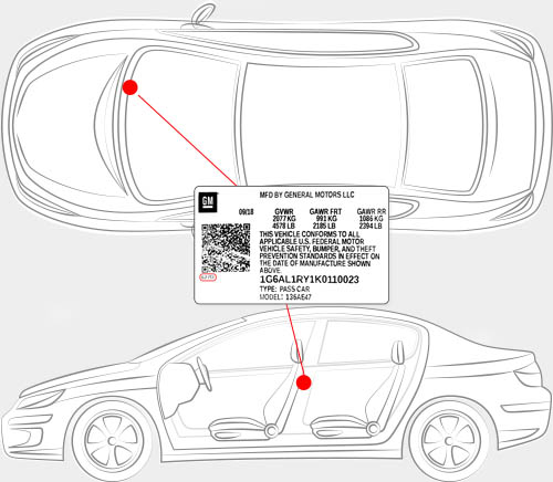 GMC Paint Code Locator