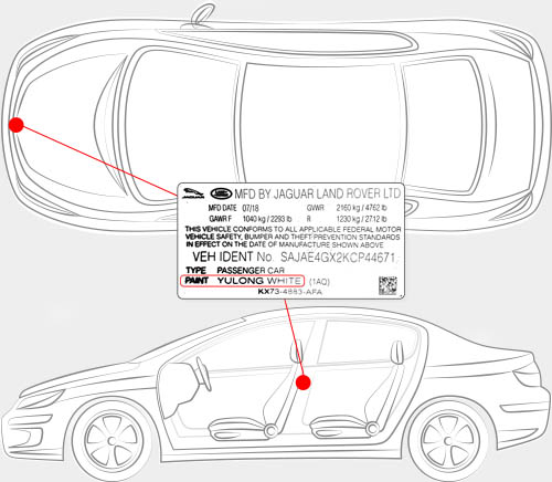 Land Rover Paint Code Locator