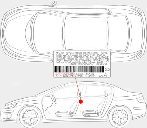 Lexus Paint Code Locator